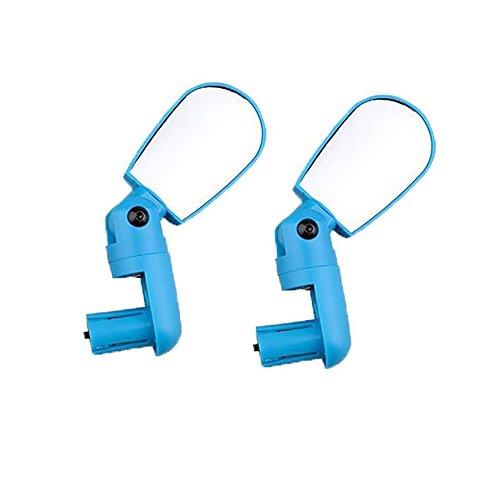 WElinks Fahrradspiegel mit 360°-Rotation, 1 Paar, Fahrrad-Rückspiegel, flexibler, verstellbarer Spiegel, Mountainbike-Spiegel, blau