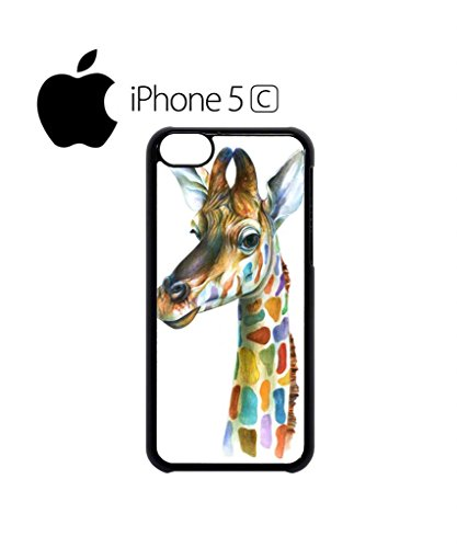 Giraffe Head Painting Mobile Cell Phone Case Cover iPhone 5c Black Weiß