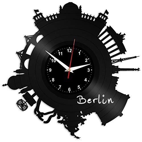 EVEVO Berlin Reloj de Pared Vinilo Tocadiscos Retro de Reloj ...