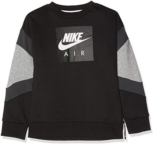 Nk Air (Nike Jungen B Nk Air Crew Pullover, Schwarz (Black/Dk Grey Heather/Anthracite 010), 128 (Herstellergröße: Small))