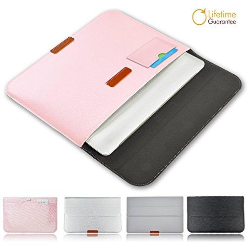Morecoo Macbook 13.3 Zoll Laptop Hülle, PU Leder Laptop Taschen Hülle für Macbook Air & Pro 13.3