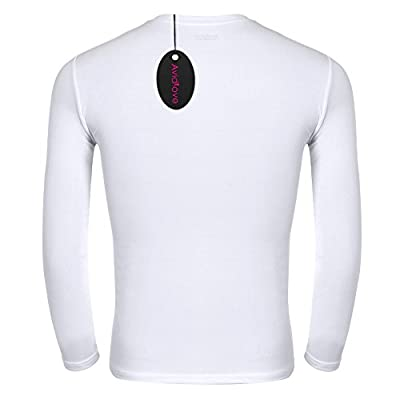 Avidlove Men Thermal Top Long Sleeve Shirts Crew Neck Cotton T-Shirt 2 Packs