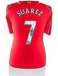 Iconos Unisex iclsls3Luis Suárez de la tienda firmado Liverpool 2014–15camiseta de la temporada, multicolor, na
