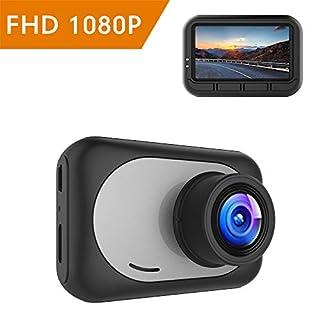 mibao Dashcam Auto Full HD 1080P Dash Camera Auto Kamera Autokamera mit 170° Weitwinkelobjektiv, G-Sense, WDR, 6G Lens, Loop-Aufnahme, Bewegungserkennung, Parkmonitor (C400)