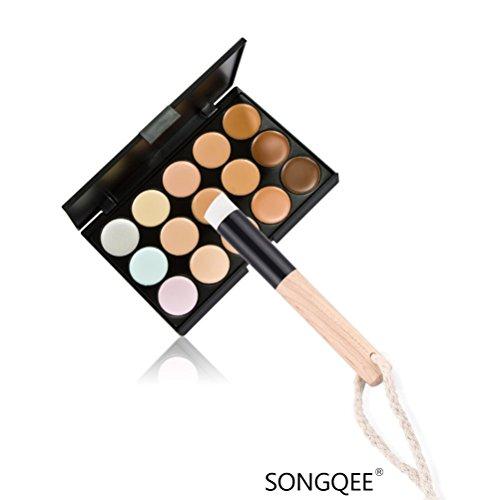 Fashion Base New 15 couleurs Contour palette Correcteur Crème Visage Maquillage + Pinceau Poudre