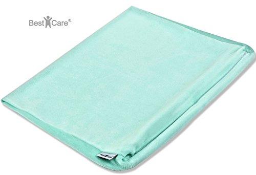 BestCare® - EU Produkt, Bezug für Babykeilkissen - passend für viele gängige Modelle - in 4 Größen und 2 Farben - Kissenbezug für Keilkissen und Lagerungskissen, Bezug:Mint, Größe:70x36 cm (maxi)