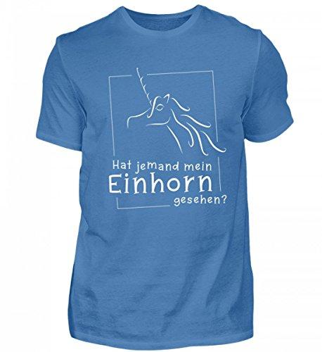 Shirtee Mens Di Alta Qualità Premiumshirt - Ricercato - Qualcuno Ha Visto Il Mio Unicorno? La Maglietta Per Tutti Gli Appassionati Di Unicorno Che Amano Distendere Il Loro Unicorno: Blu Turchese