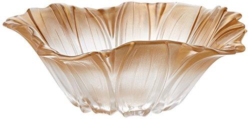 Fifth Avenue Crystal Venezia Flower Bowl, 12.5-Inch, Gold
