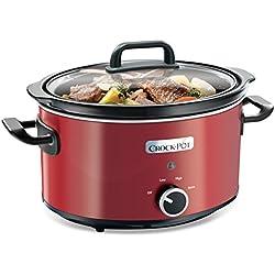 Crock-Pot SCV400RD - Olla de cocción lenta de 3,5 L, color rojo