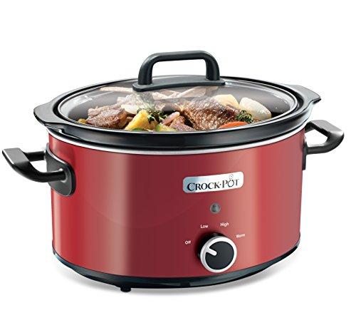 Crock-Pot SCV400RD - Olla de cocción lenta de 3,5 L, color rojo width=