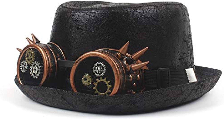 JIALUN-ha Cappello per fedora in pelliccia unisex per Cappello uomo donna  cappelli invernali di alta qualit agrave  Coloreeee nero e... Parent 2c89de a8cbd0aff3c5