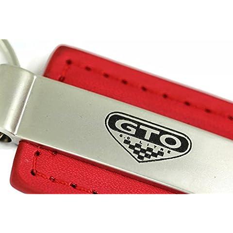 dantegts Pontiac GTO 6litri in pelle portachiavi rettangolare Anello Portachiavi, Red