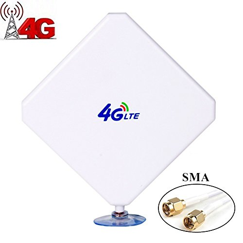 URANT SMA 4G Hochleistungs LTE Antenne 35dBi Netzwerk Ethernet Verstärker-Antenne Richtantenne Signalverstärker Verstärker für Huawei B5935 B683 B686 B310 B315 E5172E5175 E5186 EB890 etc (Vakuum-verstärker)
