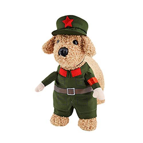 ghfashion Hallowmas Kostüm für Hunde und Katzen, Rot (Armee Mann Kostüm Kleinkind)