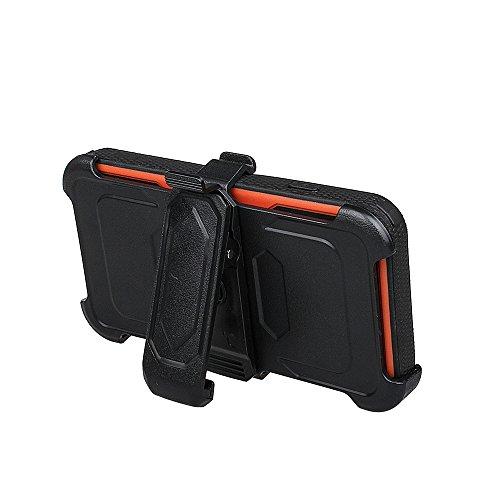 """xhorizon FM8 Eingebaut Schützender Stoßdämpfer Heavy Duty Schutz Schockreduzierung/Stoßstang Case für Apple iPhone 7 [4.7""""] (Blau) Orange Mit einem 9H gehärtetem Glasfilm"""