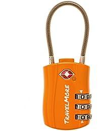 TSA Candado de Seguridad con Combinación de 3 Dígitos para Equipaje Maleta o Bolsa de Viaje
