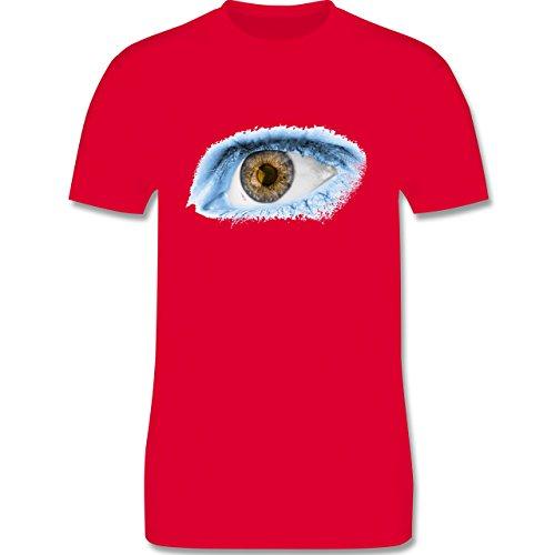 Länder - Auge Bodypaint Argentinien - Herren Premium T-Shirt Rot