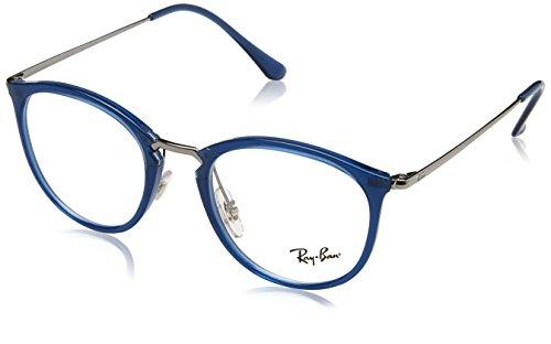 Ray-Ban Unisex-Erwachsene 0RX 7140 5752 49 Brillengestelle, Blau (Transparent Blue)