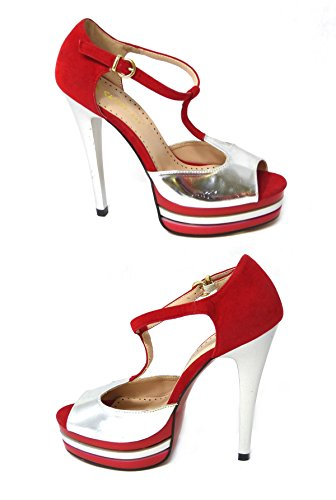 SKO'S  Various designs exclusively low prices !, Escarpins pour femme - Red (12-067-2)
