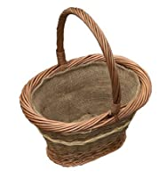 Small Hessian Lined Seville Shopping Basket
