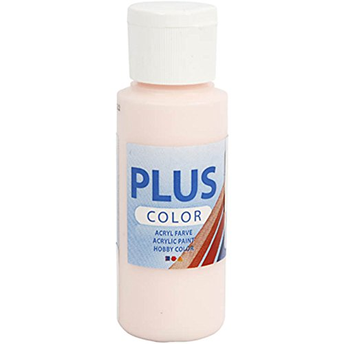 Plus Color peinture acrylique, pale rose, 60 ml