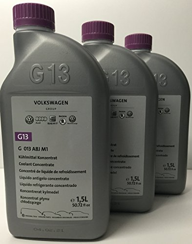 3 X Antifreeze / coolant pure G13 original Vokswagen packaging 1.5 lts (quantity: 4.5 liters)