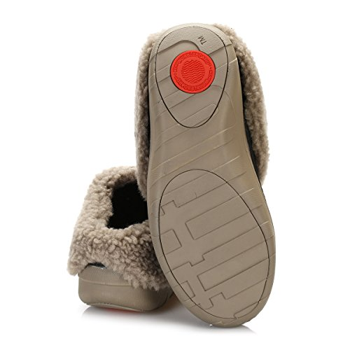 FitFlop Loaff Tm Quilted, Pantofole Aperte sulla Caviglia Donna Black (Black)