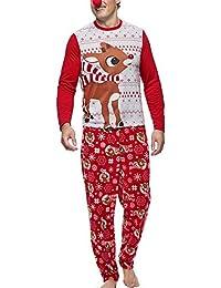 Conjunto de Pijamas Familiares de Navidad Dear Sleepwear Nightwear Camisas y Pantalones Casuales de papá y mamá y bebé + Sudadera…