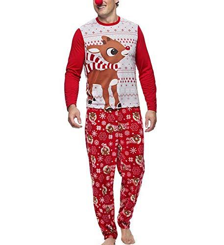 amilie Passenden Pyjama Set Frauen Männer Kinder Baby Rentier Tops Bluse Hosen Nachtwäsche Outfits ()