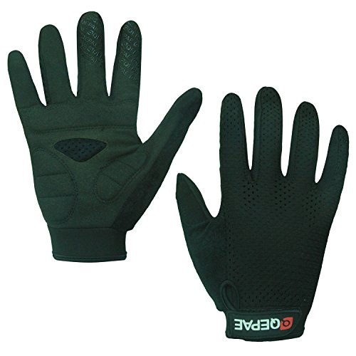 Lerway Anti-Rutsch Outdoor Hände Handschuhe Breath Weich Vollfinger MTB Handschuh Fahrradhandschuhe für Radfahren,Fahrrad Sports (Schwarz, M)