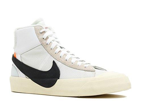 Nike Blazer MID OFF WHITE Schuhe Sneaker Neu The 10 (EUR 44 US 10 UK 9, White/White-White)