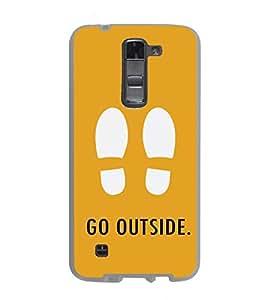 PrintVisa Designer Back Case Cover for LG K7 :: LG K7 Dual SIM :: LG K7 X210 X210DS MS330 :: LG Tribute 5 LS675 (Foot Prints Go outside Typography Creative )