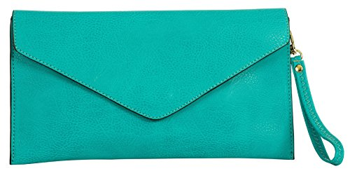 Big Handbag Shop - Borsetta senza manici donna Turquoise