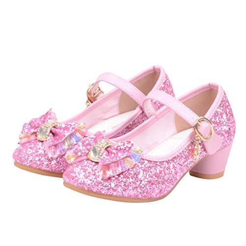 Prinzessin Schuhe MäDchen, Baby Mädchen Perlen Kristall Bling Bowknot einzelne Sandalen, Kinder Party Casual Schuhe