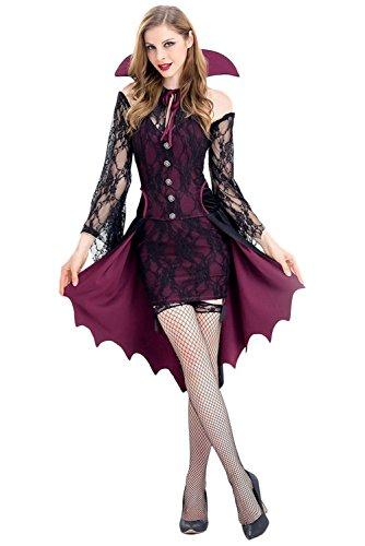 liche Vampirin Kostüm Rot (Sexy Vampir Kostüme Für Damen)