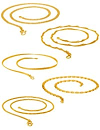 DARE By Voylla Gold Plated Set Of 5 Chains Combo