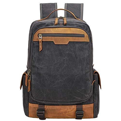 Weinlese-Segeltuch SLR-Kamera-Rucksack, stoßfester wasserdichter Freizeit-Reise-Taschen-Kamera-Rucksack der großen Kapazität im Freien verwendbar for 15,4 Zoll-Laptop-Stativ-Objektiv -34 * 20 * 43 Cm 15.4 Im Laptop