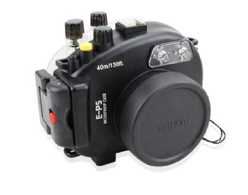 Top CameraPlus – 40M 130ft High Performance Underwater Case Camera Housing Diving for Olympus E-P5 (17mm) Special