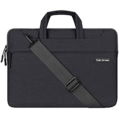 LIANG maletín formal para portátil y tablet, resistente al agua, antigolpes, bolsa, bolso para ordenador portátil de 11