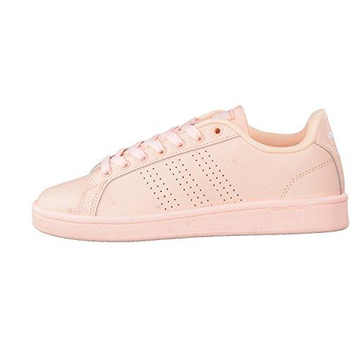 adidas Cloudfoam Advantage, Sneakers Basses Femme Haze Coral/Haze Coral/Ftwr White
