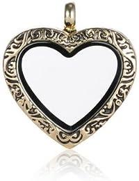 Andante oro colgantes para flotantes encantos pendientes medallones + Organzasäckchen