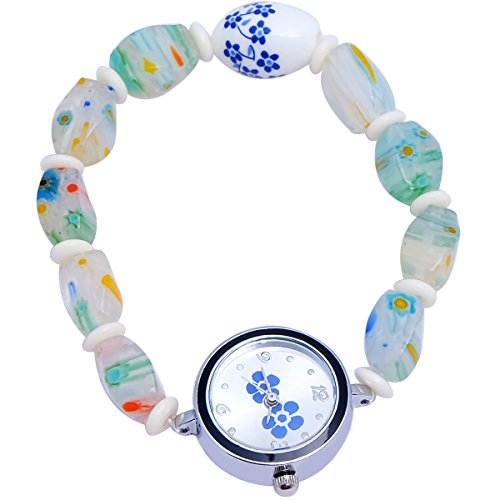 Super Drool ST2442_WT Beads And Charms Analog Watch For Girls