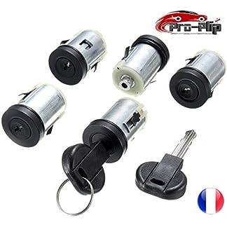 Pro-Plip – Juego de 5 cerraduras para Puertas y Cilindros para Peugeot Expert 806, Citroën Jumpy XM Evasion Dispatch, Fiat Scudo Ulysse, Citroën Synergie Xsantia y Llaves