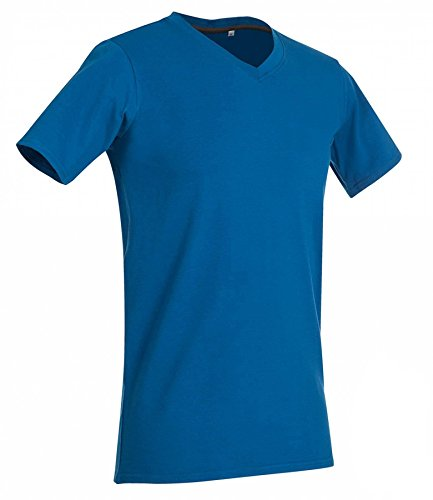 V-Neck T-Shirt Clive King Blue