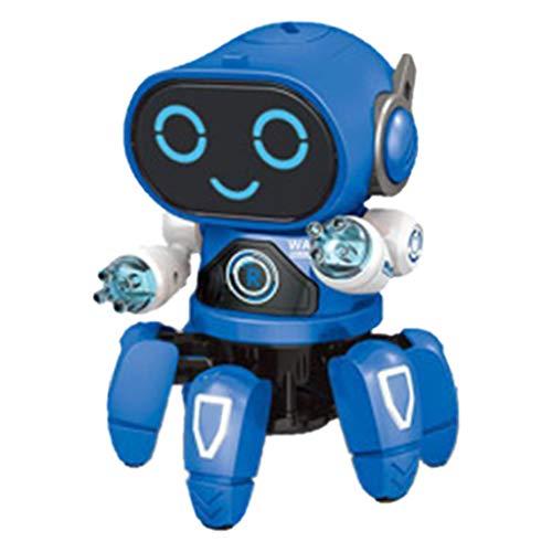 Webla Danse Électrique Calmar Musique Légère Robot Bleu Électrique Intelligente Danse Robot Musique Lumière Jouets Garçon Enfants Cadeau