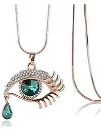 fb2f3200dcfb WOkismx Ojos Grandes Collar De Cristal De Moda Retro Larga Cadena De SuéTer  Femenino Exquisito Sexy