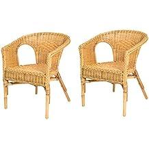 lote de sillones de mimbre chris miel moderno y barato