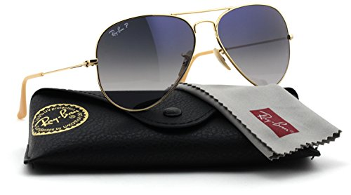 Ray-Ban RB3025 001/78 Gold Frame / Gradient Blue Polarized Lens 58mm