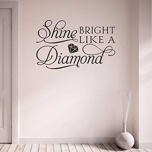 Ein Diamant-Song Home Aufkleber Fenster Wohnzimmer Schlafzimmer Flur Aufkleber Abnehmbare Vinyl Kunst Wand Sticker37X59 Cm ()