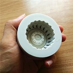 Silicone Fondant Round Tire Cake Chocolate Soap Mold Cake Baking Decoration Tool (Style 4)